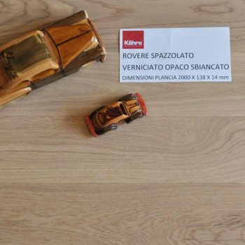 Kahrs - Rovere sbiancato spazzolato verniciato - Campione Omaggio Maxi